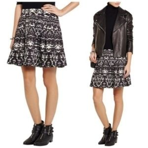 J. CREW Blurred Ikat Print A-Line Mini Skirt - 6